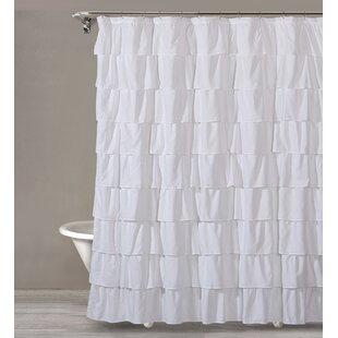 Alena Ruffle Single Shower Curtain