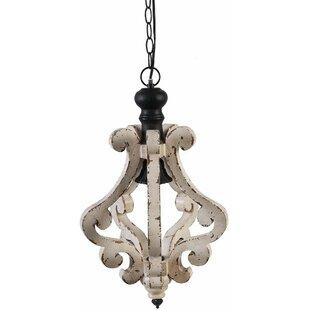 Ophelia & Co. Latonia Wooden 1-Light Geometric Pendant