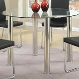 Treece Glass Dining Table by Orren Ellis