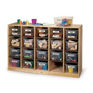 Online Reviews Single 20 Compartment Cubby with Plastic Bins ByWhitney Brothers