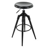 Beaudry Adjustable Height Swivel Bar Stool by Wrought Studio™