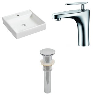 Savings Ceramic 17.5 Wall Mount Bathroom Sink with Faucet By Royal Purple Bath Kitchen