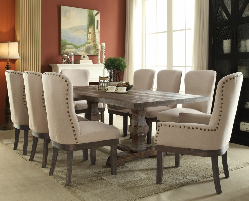 Gracie Oaks Richardson 9 Piece Dining Set Reviews Wayfair