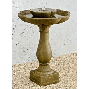 Campania International Flores Concrete Pedestal Fountain