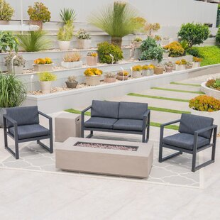 Frankfort Outdoor 5 Piece Sofa Seating Group with Cushions