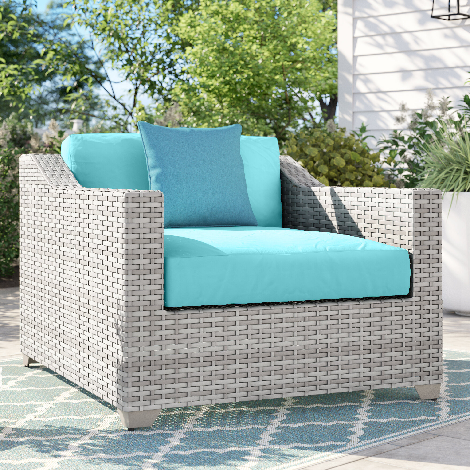Allstate Patio Furniture.Falmouth Patio Chair With Cushions
