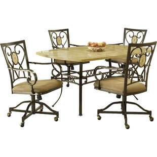 Boundary Bay 5 Piece Dining Set Red Barrel Studio