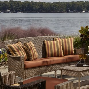 Key Biscayne Patio Sofa with Cushions by Panama Jack Outdoor