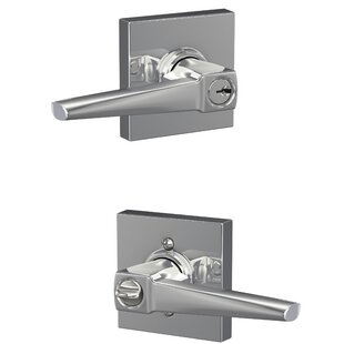 Eller Keyed Entry Lever with Collins Trim by Schlage
