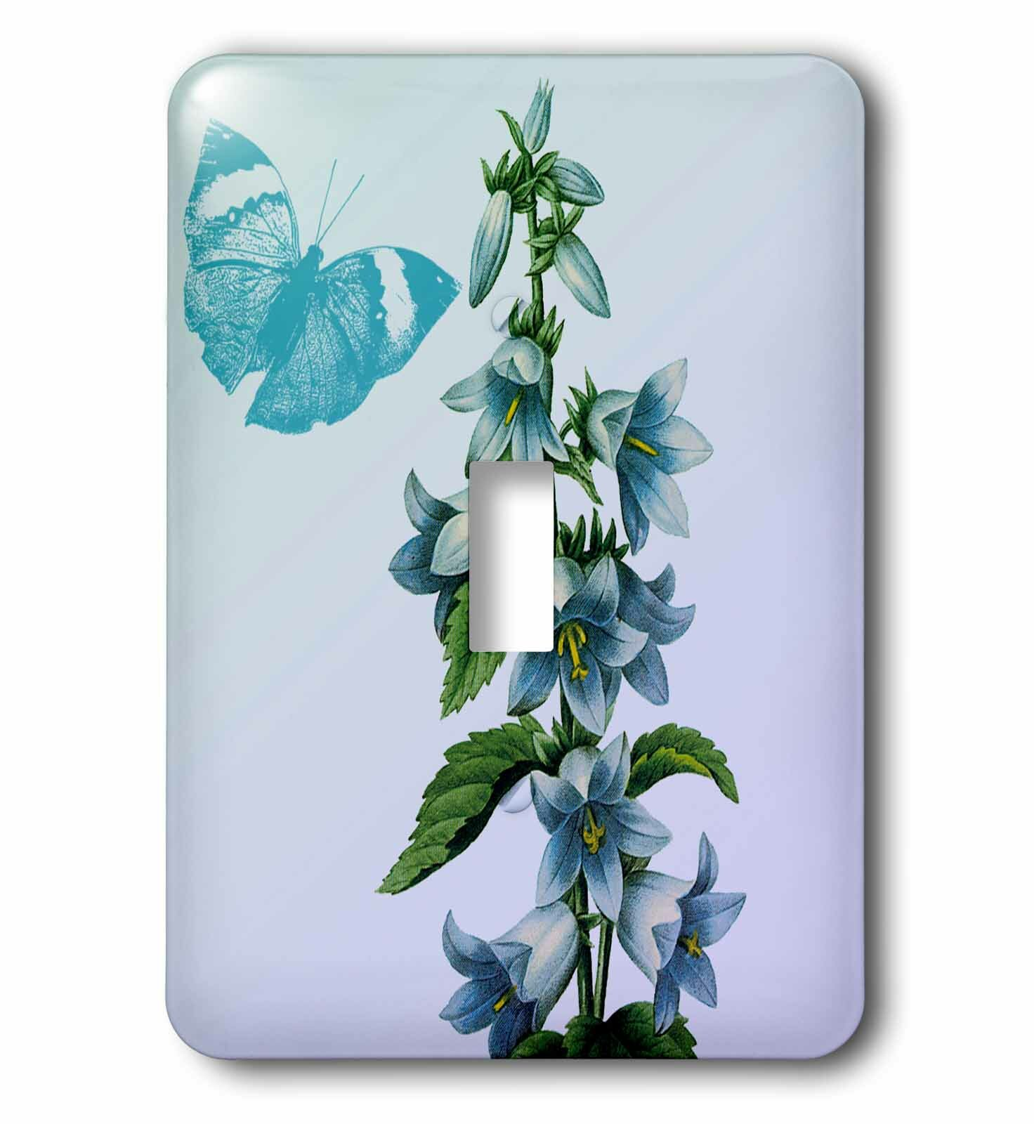 3drose Butterfly And Flowers 1 Gang Toggle Light Switch Wall Plate Wayfair