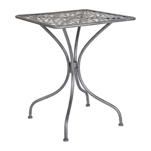 Tanksley Steel Bistro Table by Winston Porter