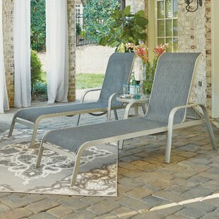 Dinan Reclining Chaise Lounge Set with Table