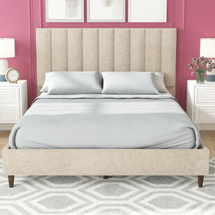 Barbagallo Upholstered Panel Bed by Mercury Row