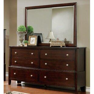 Blumer 6 Drawer Double Dresser with Mirror