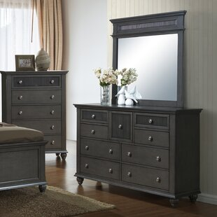Alcott Hill Hilley 9 Drawer Dresser with Mir..