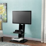 Umbria Ebern Designs Floor Stand Mount for Screens with Shelving, Holds up to 70 Lb. lbs