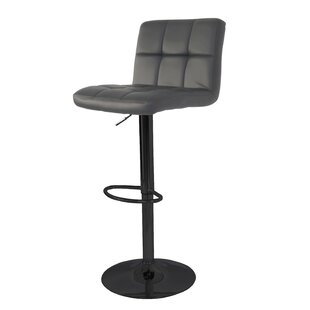 Wrought Studio Ransome Adjustable Height Swivel Bar Stool