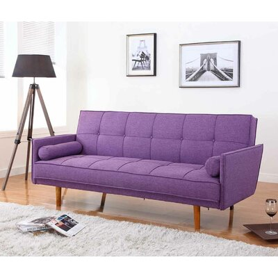 BestMasterFurniture Convertible Sofa Upholstery: Purple