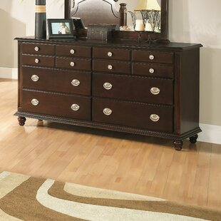 Daley 6 Drawer Double Dresser With Mirror