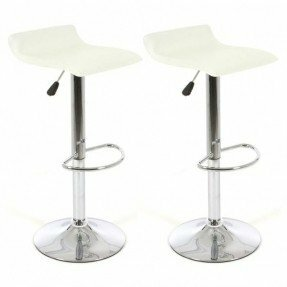 Chandley Modern Adjustable Height Swivel Bar Stool (Set of 2)
