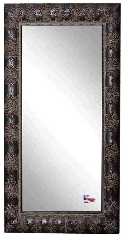 World Menagerie Rectangle Mahogany Feathered Floor Mirror & Reviews ...
