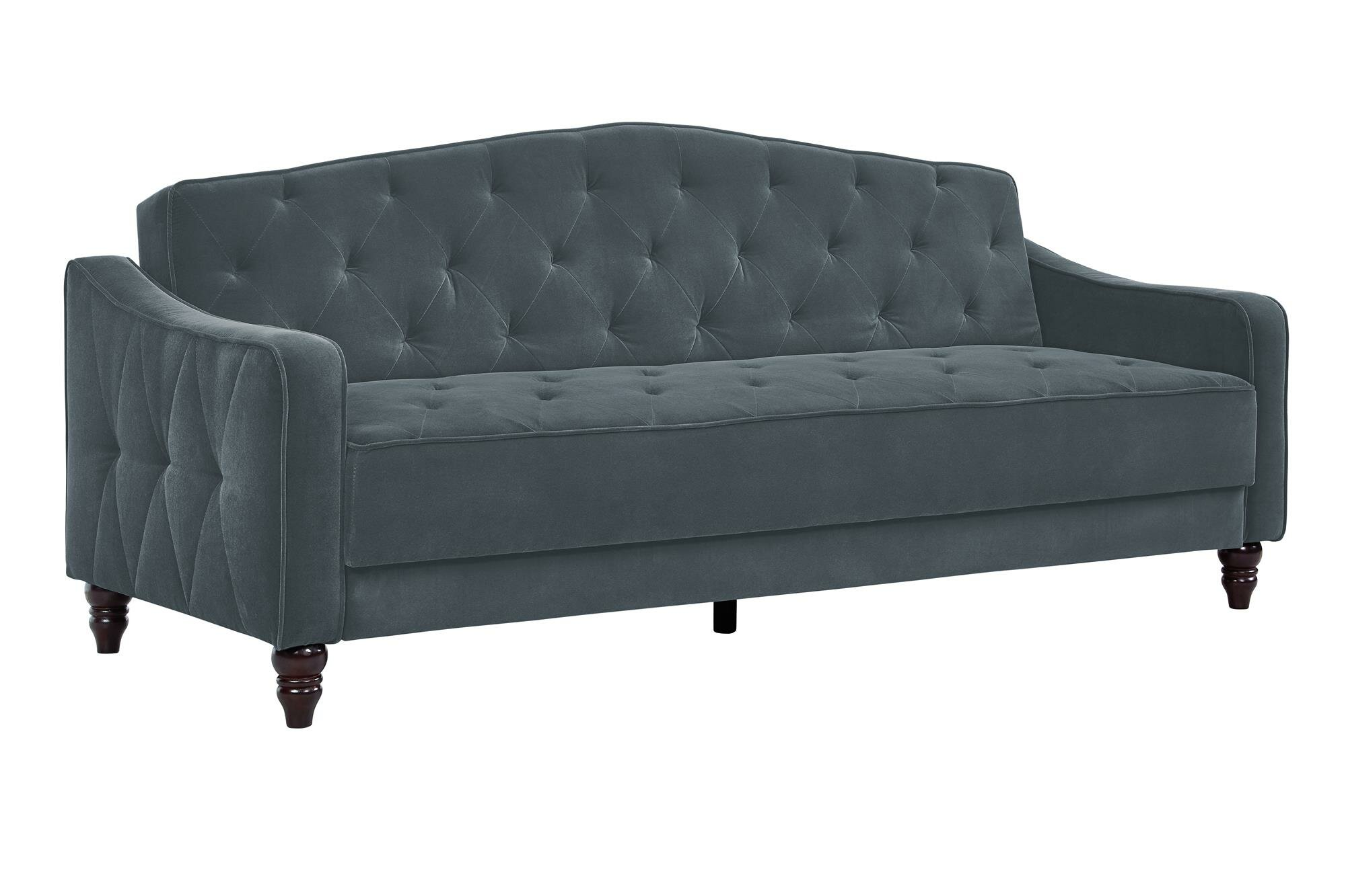 Pleasant Vintage Tufted Convertible Sofa Gamerscity Chair Design For Home Gamerscityorg