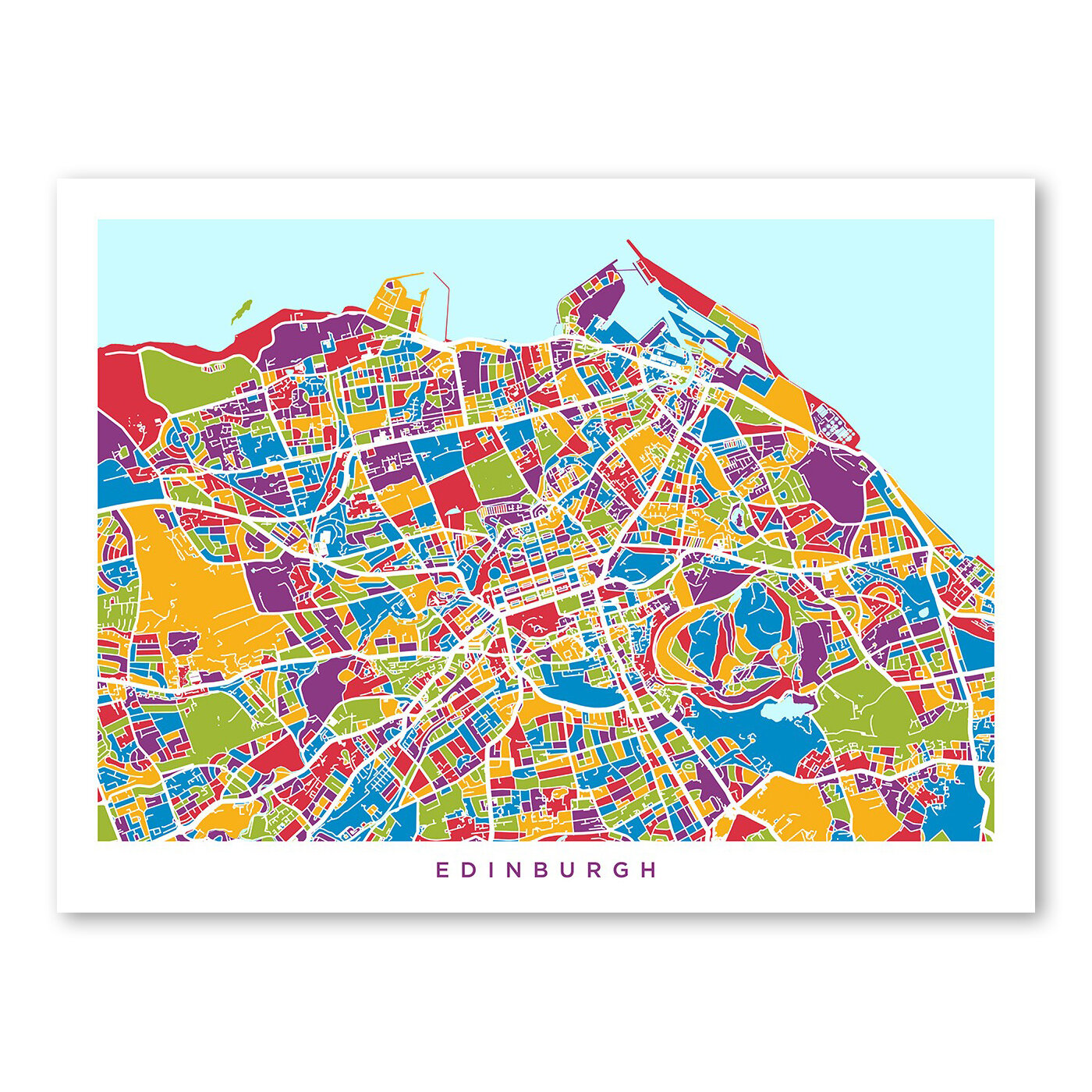 Americanflat edinburgh street map wall mural wayfair for Edinburgh wall mural