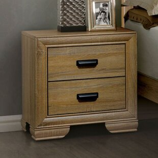 Wamsley Wooden 2 Drawer Nightstand by Millwood Pines