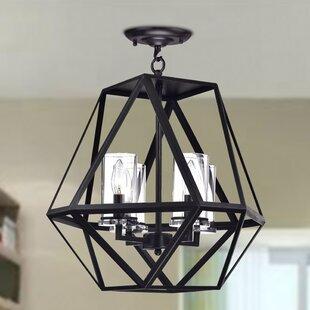 Brayden Studio Millar 4-Light Geometric Chandelier