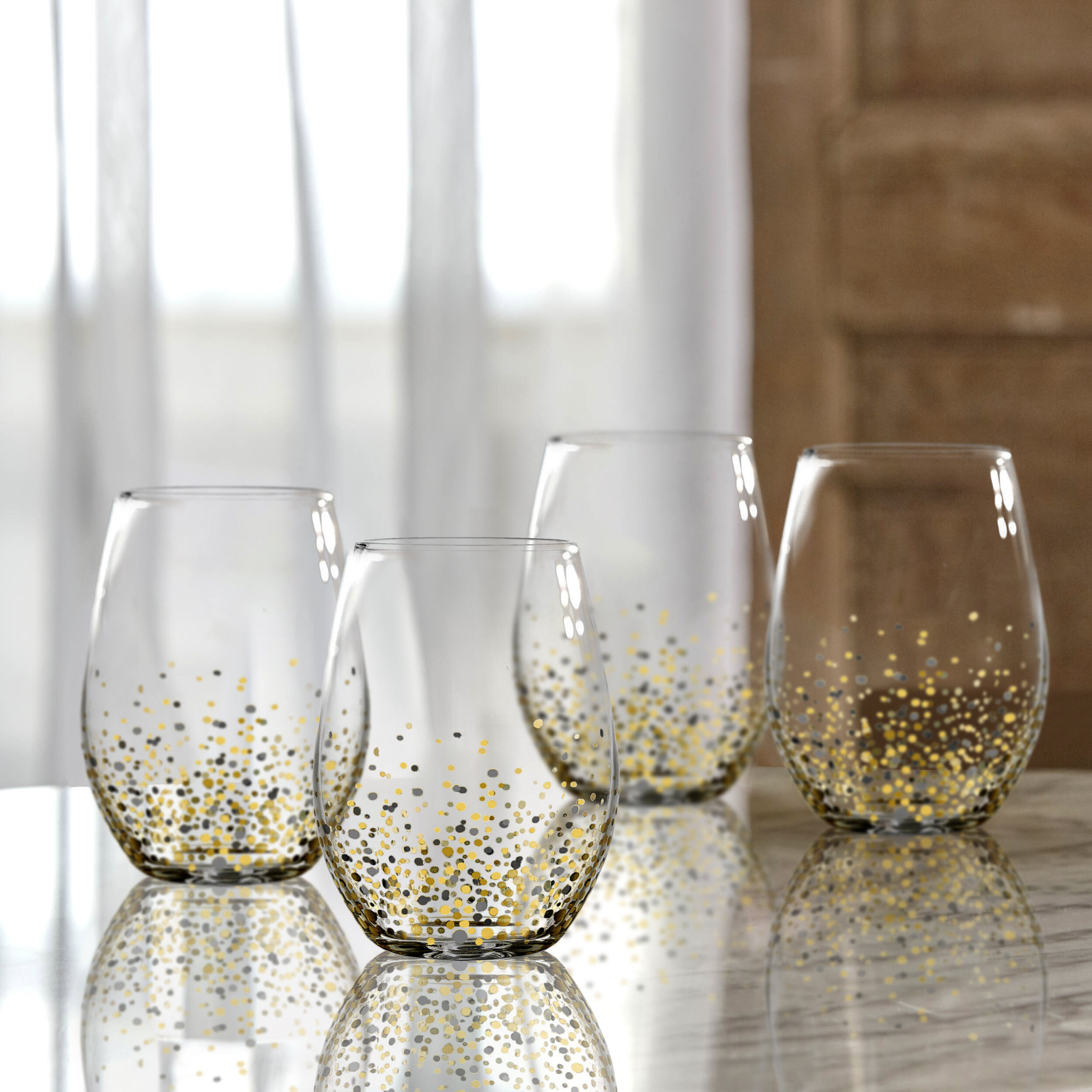 Painted Stemless Wine Glasses Casual Drinkware You Ll Love In 2021 Wayfair
