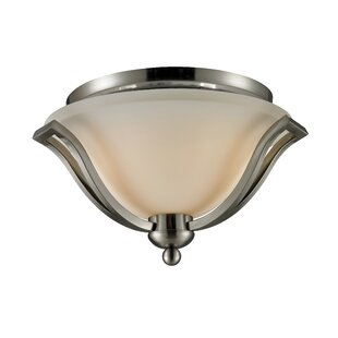 Weyer 2-Light Flush Mount by Winston Porter