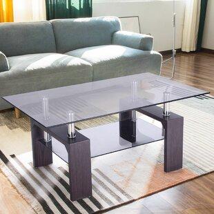 Compare prices Machado Glass Coffee Table ByOrren Ellis