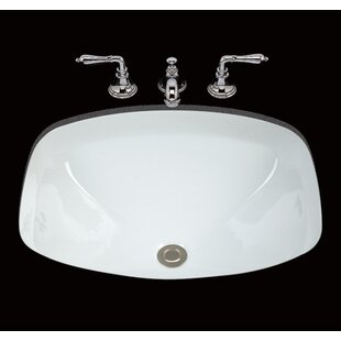 Loretta Ceramic Rectangular Undermount Bathroom Sink with Overflow By Bates & Bates