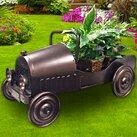 Dexton Kids Vintage Car Metal Statue Planter