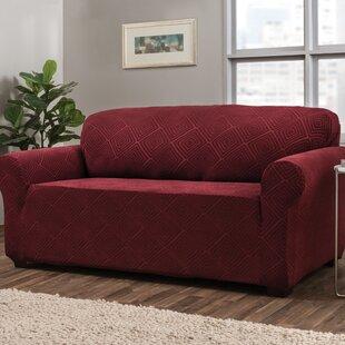 Shop Diamond Box Cushion Sofa Slipcover by Symple Stuff