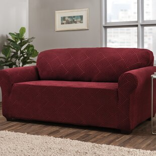 Diamond Box Cushion Sofa Slipcover by Symple Stuff