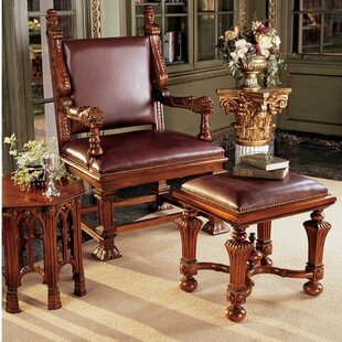 Design Toscano Lord Cumberland's Throne Armchair and Footstool Set