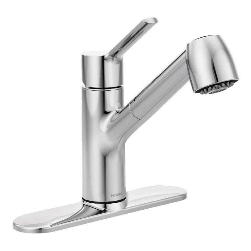 moen method single handle pull out kitchen faucet & reviews | wayfair
