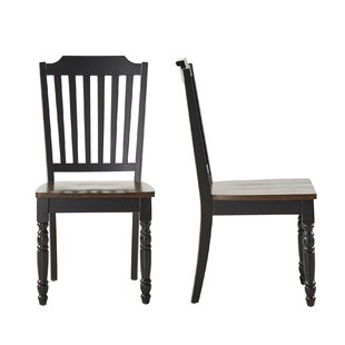Three Posts Westlund Solid Wood Dining Chair (Set of 2)
