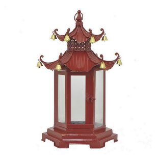 World Menagerie Pagoda Metal Lantern
