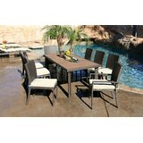 Cicero 9 Piece Dining Set with Cushions