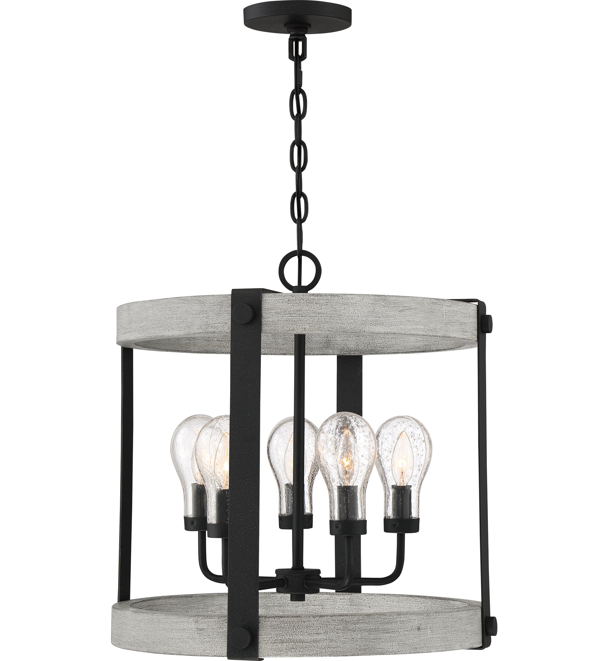 17 Stories Ludgershall Gray Ash 5 Bulb 21 H Outdoor Chandelier Wayfair