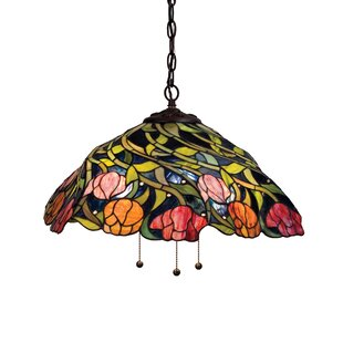 August Grove Mosby Spiral Tulip 3-Light Dome Pendant