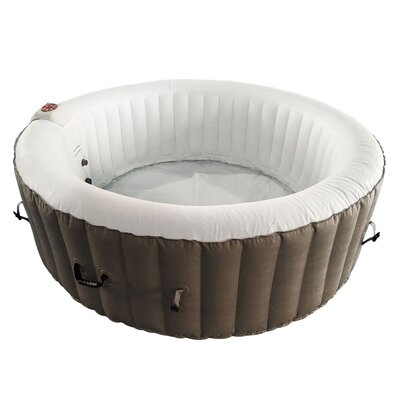 Hot Tub 6-Person 130-Jet Inflatable Hot Tub with Zip Cover ALEKO