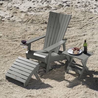Breakwater Bay Deutsch Plastic Adirondack Chair With Table And