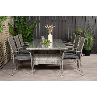 Adhelin 6 Seater Dining Set With Cushions By Bloomsbury Market
