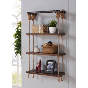 Wood And Metal Wall Shelves coastal wall & display shelves you'll love | wayfair