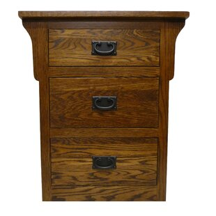 Aske 3 Drawer Nightstand