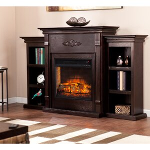 Bernice Infrared Electric Fireplace by Three Posts