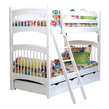 David Twin Bunk Bed with Two Underbed Storage Drawers by Viv + Rae
